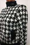 Трендовый турецкий черно - белый женский пиджак косуха, фото 5