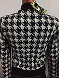 Трендовый турецкий черно - белый женский пиджак косуха, фото 6