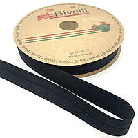 Бейка хлопковая черная 20 мм