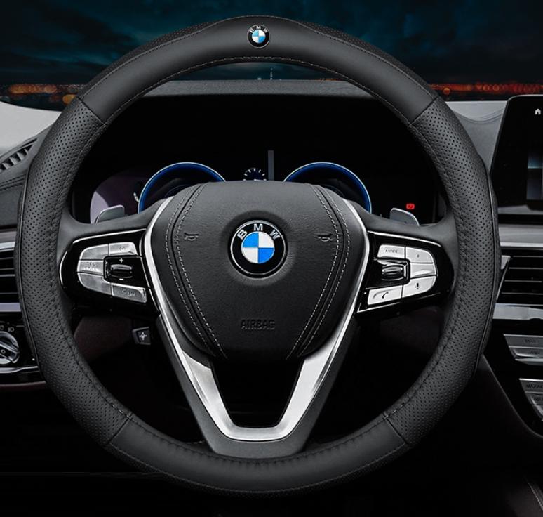 Чехол оплетка Сool на руль для автомобиля BMW натуральная кожа