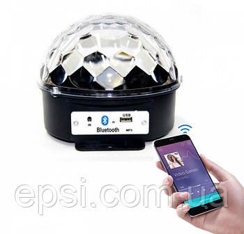 Светодиодный дискошар LED Music Ball Lamp - светомузыка для дома