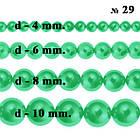 Бусины 6 мм Стеклянные под Жемчуг Зеленые Перламутровый тон 29, около 150 шт/нить, Фурнитура для Бижутерии, фото 6