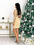 Женское стильное платье с 42 по 48 рр креп дайвинг + стрейч сетка, фото 3