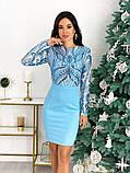 Женское стильное платье с 42 по 48 рр креп дайвинг + стрейч сетка, фото 7