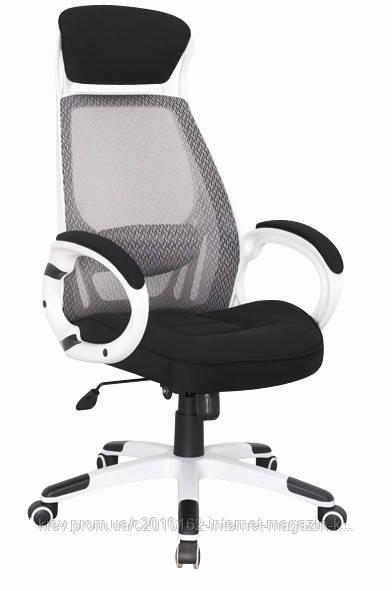 Кресло офисное  BRIZ бело-черное