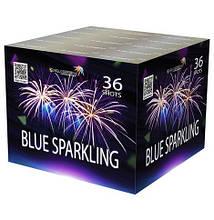 Салют салютна установка BLUE SPARKLING  SB36-03 36 выстрелов