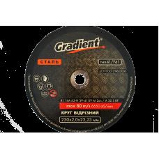 Круг відрізний Gradient 230x2,0x22,23 мм
