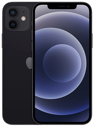 Смартфон Apple iPhone 12 Dual Sim 64GB Black, фото 2