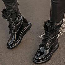 """Зимние ботинки с мехом Alexander McQueen Luxury Boot Fur """"Черные"""", фото 2"""