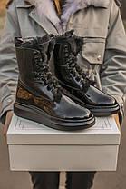 """Зимние ботинки с мехом Alexander McQueen Luxury Boot Fur """"Черные"""", фото 3"""