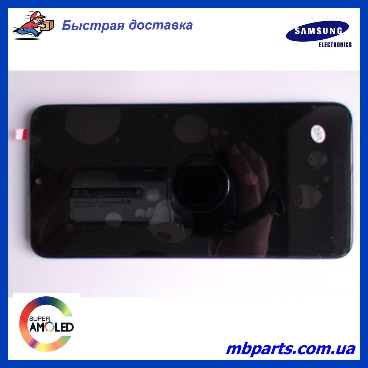 Дисплей с сенсором Samsung А107 Galaxy А10s Black, GH81-17482A, оригинал, с рамкой!