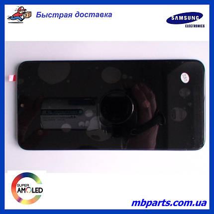 Дисплей с сенсором Samsung А107 Galaxy А10s Black, GH81-17482A, оригинал, с рамкой!, фото 2