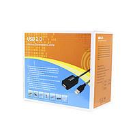 Активный удлинитель Lesko USB 20м высокоскоростной соединение кабелей, фото 6