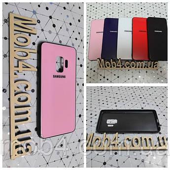 Чехол Стекло Бренд (обод силиконовый) для Samsung Galaxy (Самсунг Гелекси) S9