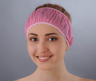 Пов'язка для волосся одноразова (спанбонд)
