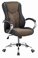 Кресло офисное BOREY черно-коричневое