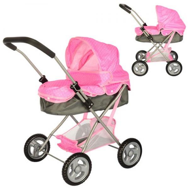 Розовая коляска для куклы 8826H-2S