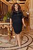 Платье нарядное облегающее по колено гипюр 50-52 54-56 58-60, фото 2