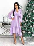 Женское платье из структурного шифона 42 - 48 рр, фото 7
