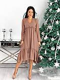 Женское платье из структурного шифона 42 - 48 рр, фото 10