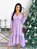 Женское платье из структурного шифона 42 - 48 рр, фото 8