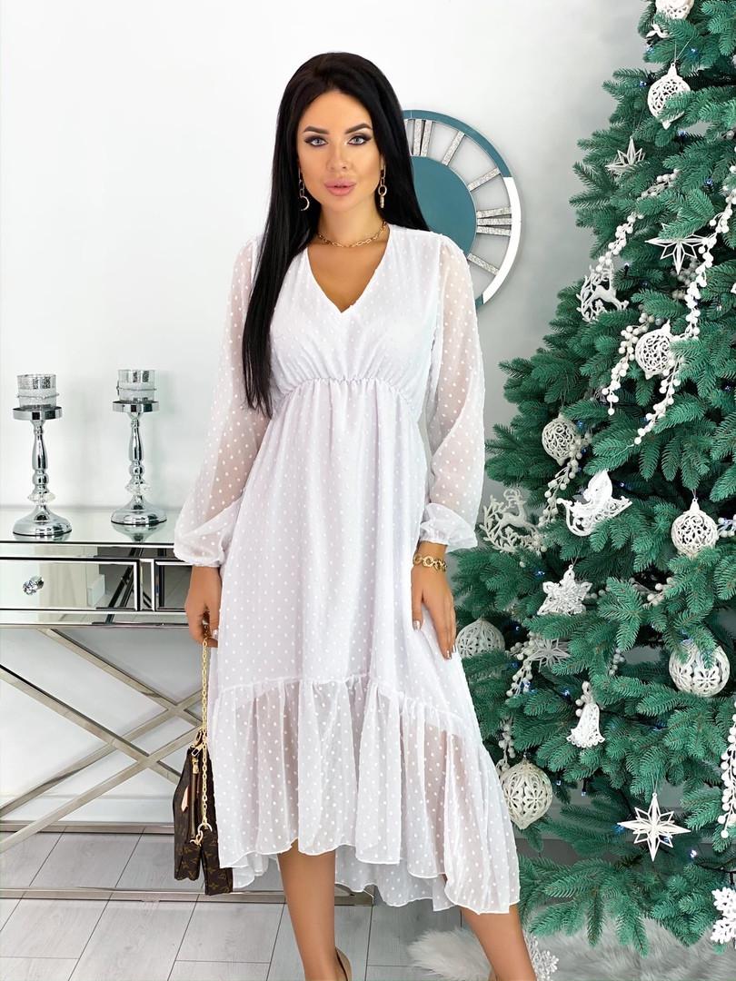 Женское платье из структурного шифона 42 - 48 рр