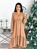 Женское платье из структурного шифона 42 - 48 рр, фото 3
