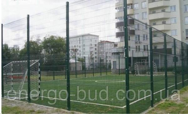 Забор из сварной сетки для футбольной площадки