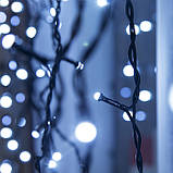 Новогодняя уличная гирлянда Штора 120 LED 2 * 1.5 м * 1.5 м, белый, фото 2