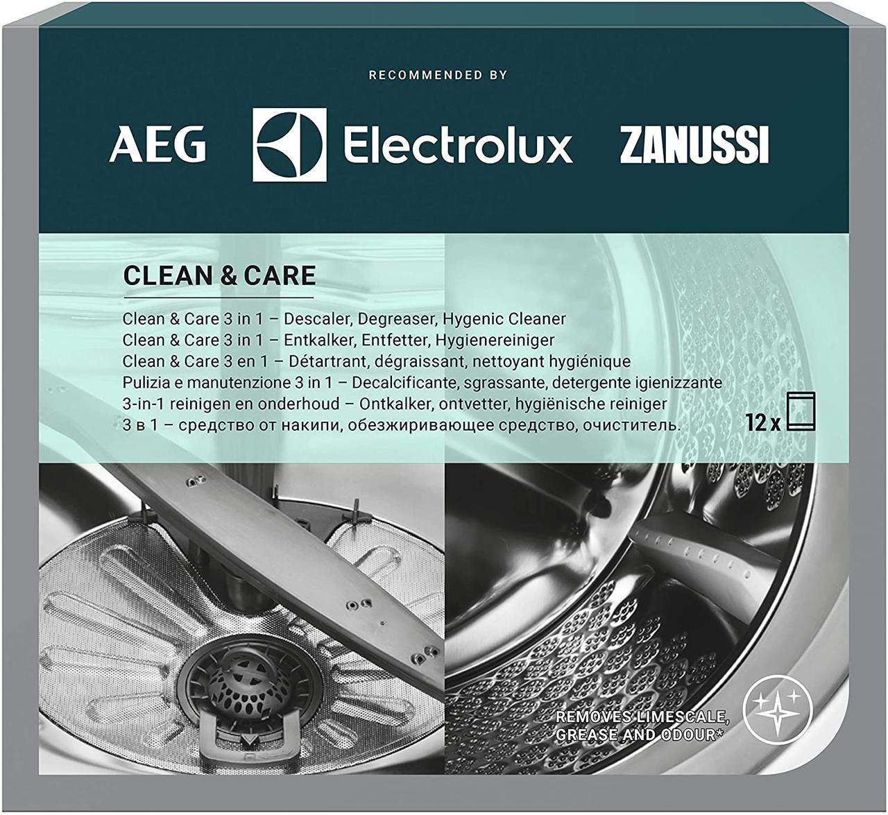 Засіб для видалення жиру і накипу Electrolux (12 пакетиків, Італія)