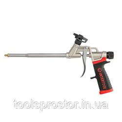 Пистолет для пены с тефлоновым покрытием держателя баллона + 4 насадки профессиональный INTERTOOL PT-0609
