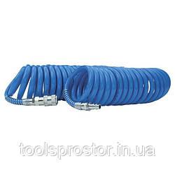 Шланг спиральный полиуретановый 8*12 мм, 15м с быстроразъемными соединениями INTERTOOL PT-1717