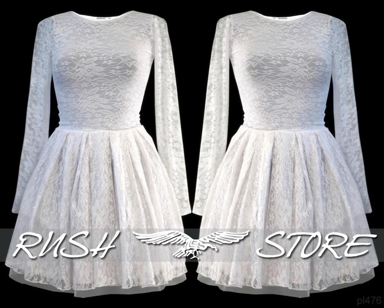 Женское гипюровое платье с расклешенной юбкой