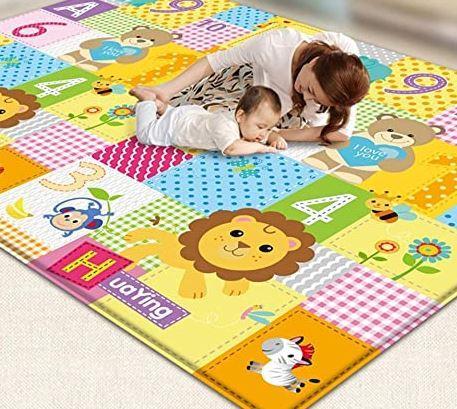 Дитячий ігровий килимок 0,5 см (Зелена обведення)
