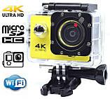 Экшн камера 4K wi-fi +Пульт Видеорегистратор+ Аквабокс +крепления аналог Go Pro, фото 2