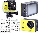 Экшн камера 4K wi-fi +Пульт Видеорегистратор+ Аквабокс +крепления аналог Go Pro, фото 3