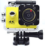 Экшн камера 4K wi-fi +Пульт Видеорегистратор+ Аквабокс +крепления аналог Go Pro, фото 5