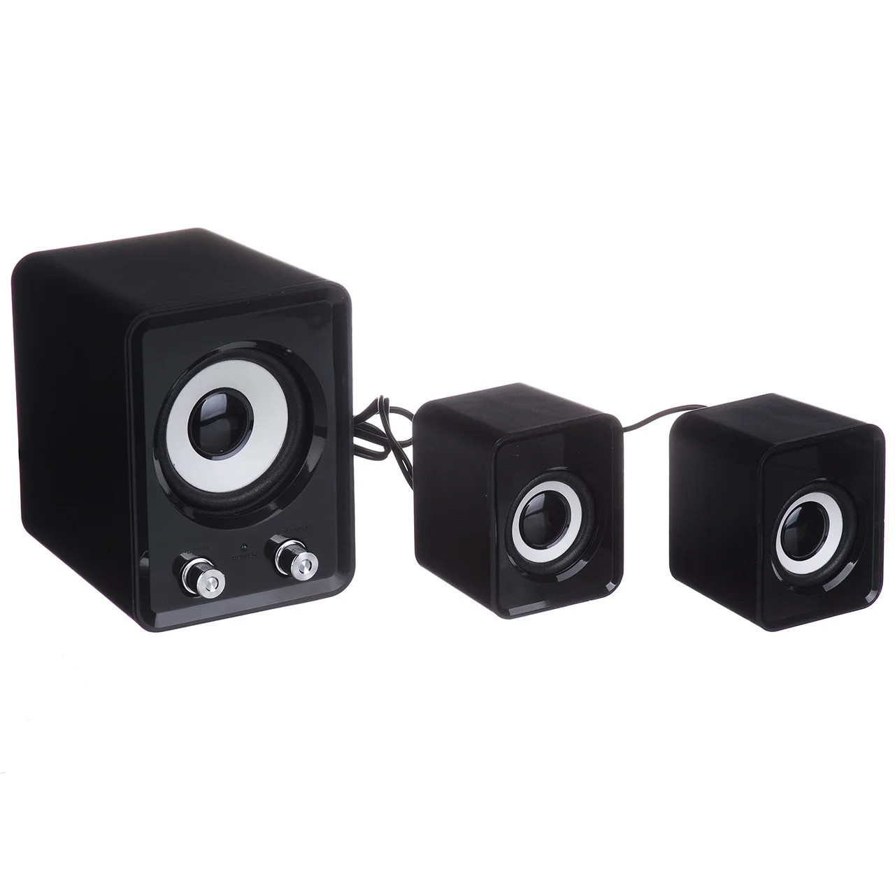 Колонки для компьютера, ноутбука FT-202 Mini 2.1 черные, акустическая система для дома   музичні колонки (GK)