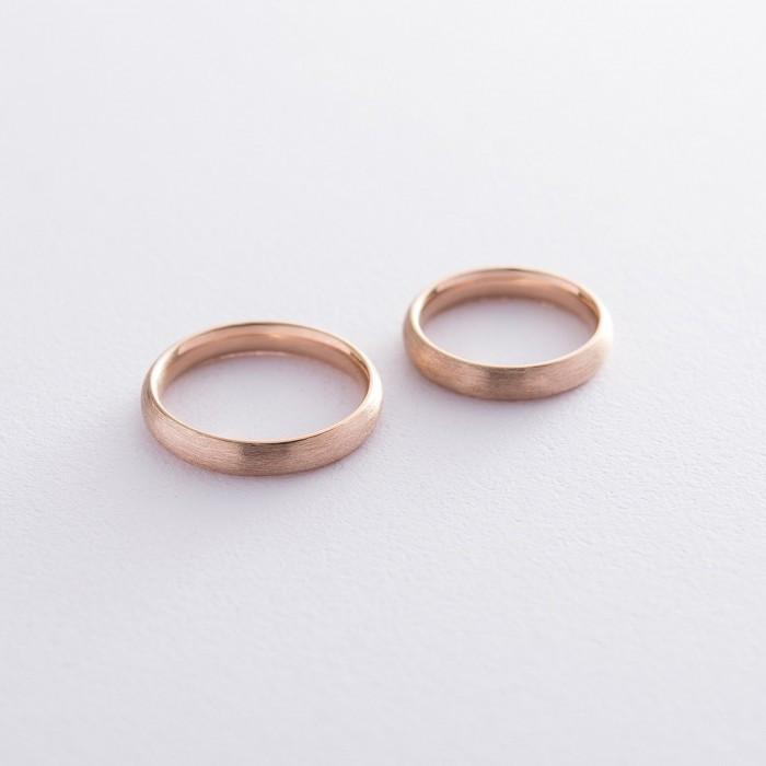 Золотое обручальное кольцо 4 мм (матовое) обр00404