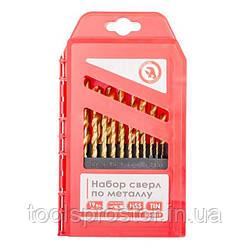 Набір свердел по металу HSS INTERTOOL SD-0019