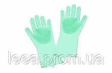 Силиконовые перчатки для мойки посуды