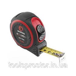 Рулетка с металлическим полотном 5м*19мм, нейлоновое покрытие полотна STORM INTERTOOL MT-0835