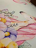 """Бесплатная доставка! Коврик для детской  """"Единорог и фламинго"""" (2*3 м) светло-голубой, фото 8"""