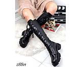 Сапоги демисезон на шнуровке,тракторная подошва, фото 4