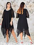 Женское свободное платье  батал с 48 по 62 рр шифон, фото 5