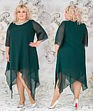 Женское свободное платье  батал с 48 по 62 рр шифон, фото 2