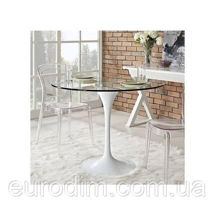Стол обеденный Тюльпан МДФ 80см, фото 2