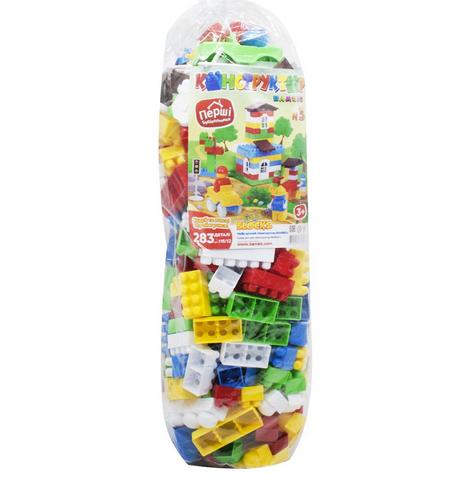 Конструктор детский развивающий пластмассовый 283 детали. Детский конструктор Бамсик