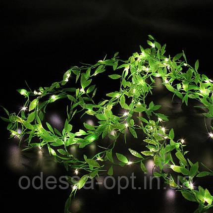Xmas гирлянд 200 Led листья плакучей ивы (Copper) на медной проволоке WW Теплый белый 3M*1M, фото 2