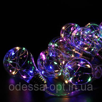 Xmas гирлянд в виде Лампочки 10 Led Мультицветная с соединителем, фото 2